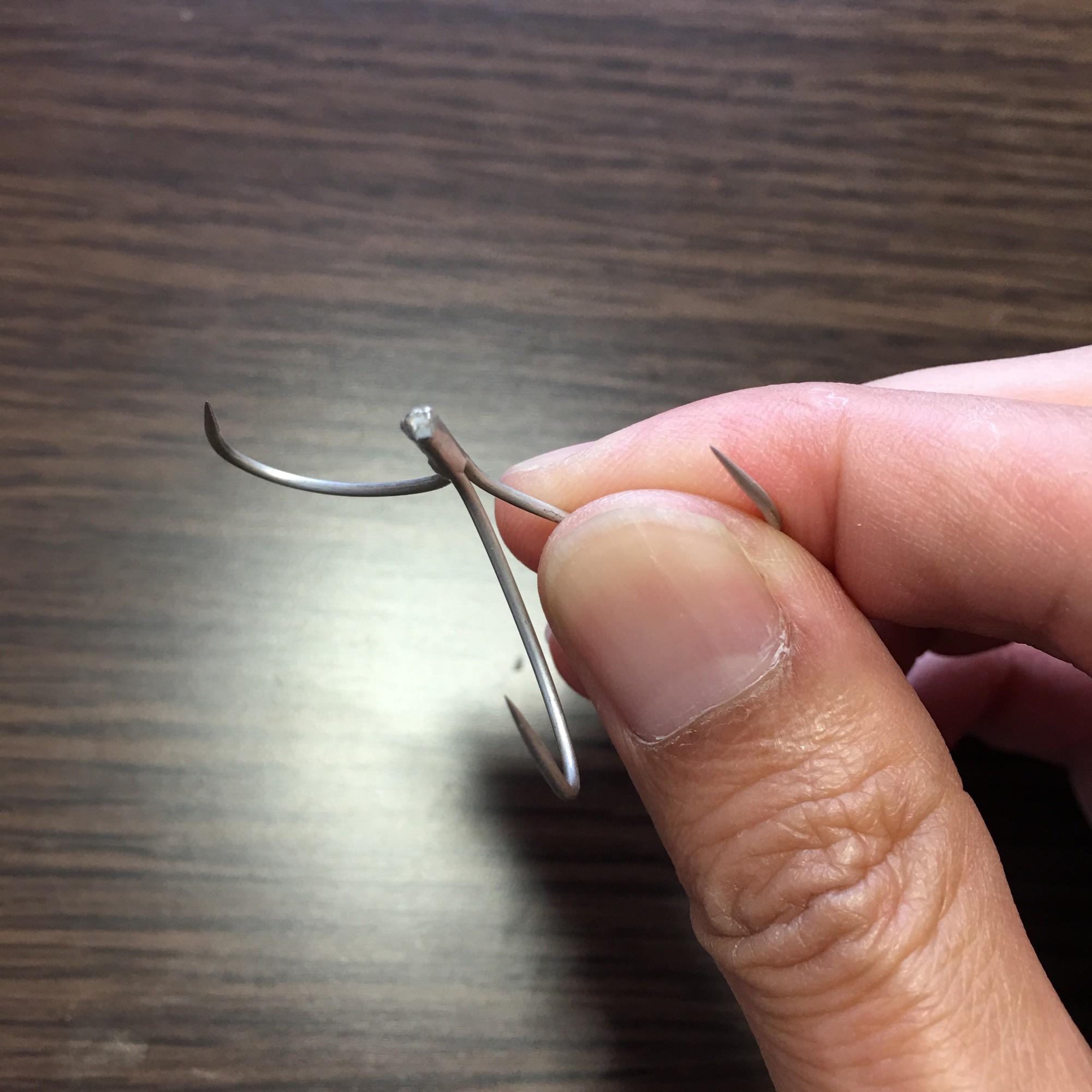 針を曲げる